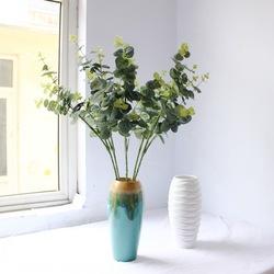 "2020 hojas artificiales de eucalipto sembradas tallos a granel planta de dólar de plata en verde gris 11,8 ""Verde alto vacaciones verdes boda"