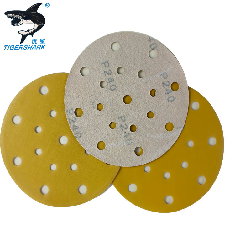 Competitive price 115mm grit 80#  Abrasive sanding paper with holes for Electric tools