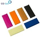 CSF01 trangile custom logo leather small folding eye reading glasses case sunglasses