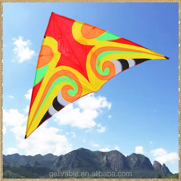 Large stitching pattern ripstop nylon fabric kite