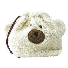 M811 Cozy Fleece Cute Bear Coin Purse To Storage Change