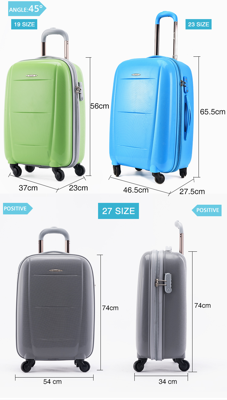 "23"" Eco-friendly low price innovative trolley luggage travel bags"