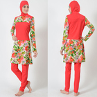 Hot Selling High Quality Floral Muslim Swimsuit Swimwear Women