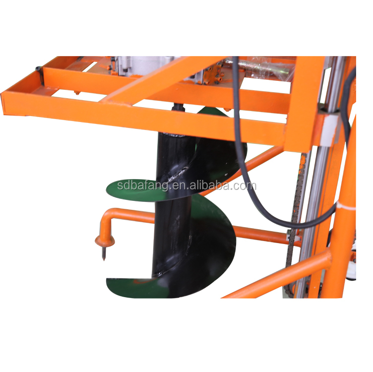 High quality portable hand push earth auger