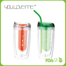 personalized pp plastic magic tumbler with straw 450ml