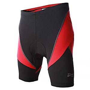 Men's Spring/Summer/Autumn Cycling Shorts Shorts Breathable/Quick Dry/Wicking/Compression/Lightweight Materials/3D Pad/Reflective Strips Red/Blue , Red-XXL , Red-XXL