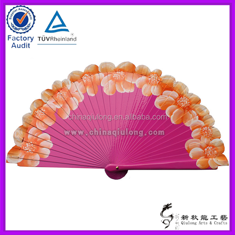 Decorative Items Wooden Arts and Crafts Foldable Fan for Marriage Gift