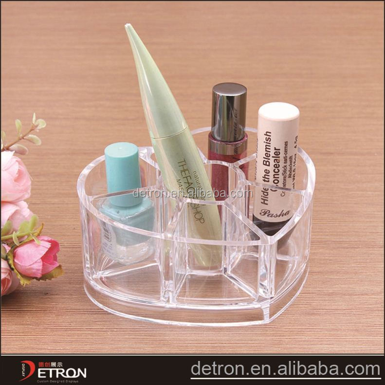 Heart organizer cosmetic display stand design