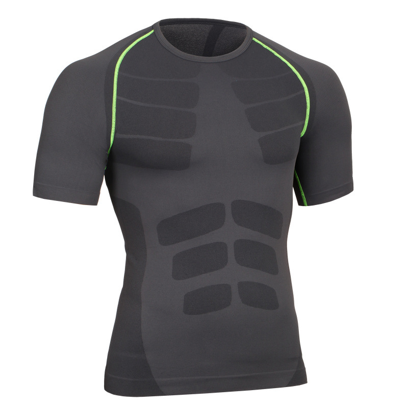 Men's Quick Dry Short Sleeve T-shirt Running Fitness Shirts 7