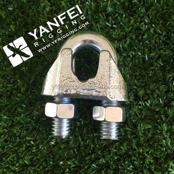 Din741 Malleable U Clamp For Wire Rope With Nylon Cable Clamps ...