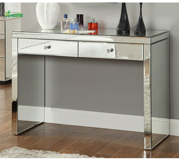 Delicieux Simple Silver Vanity Luxury Console Table