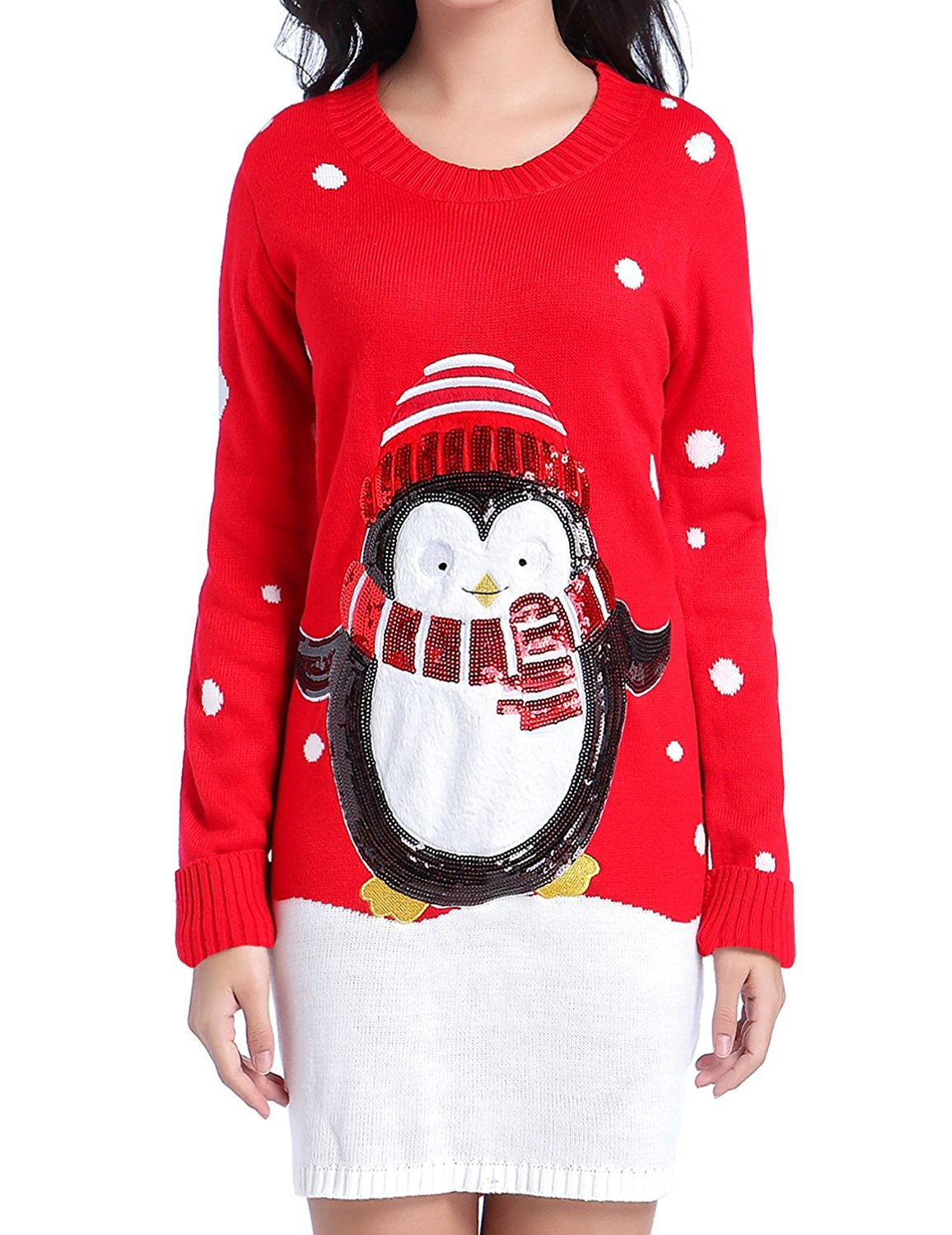 Get Quotations · V28 Women Christmas Sweater 334bcc68c