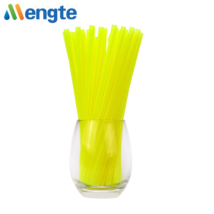 mengte novelty customized size pla disposable  plastic straight drinking straw for juice