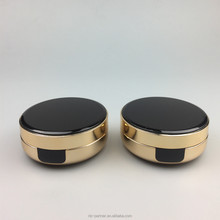 OEM 15g plastic round white black empty cushion BB cream case / gold air cushion foundation container