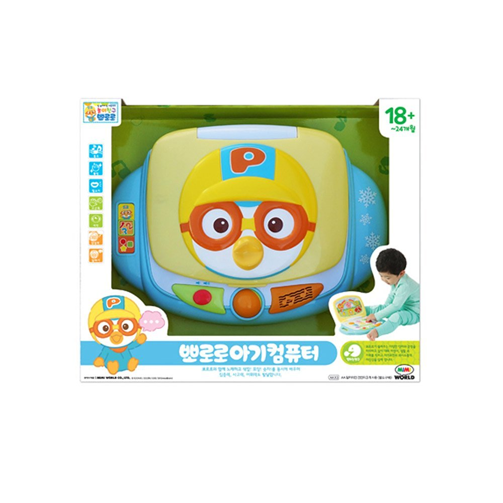 Mimi World Infant Pororo Computer Laugh & Learn Smart Stages Laptop For Baby and Kid Music and Sound