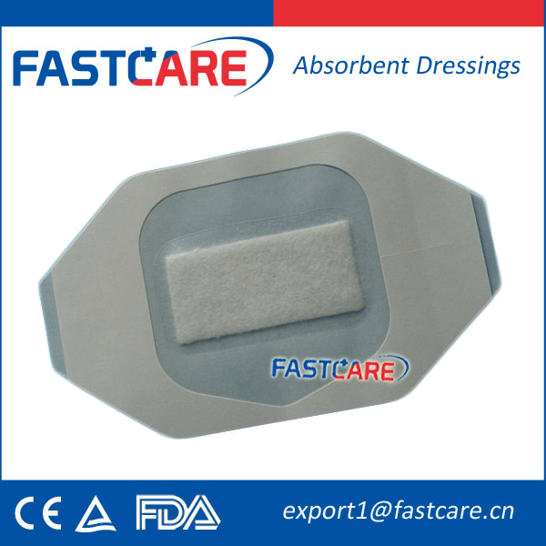 FDA Approval Sterile Ultra-thin Medical PU Dressing with Absorbent Pad