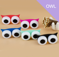Cute Creative gifts big eyes cartoon animal shaped contact lens/lenses case