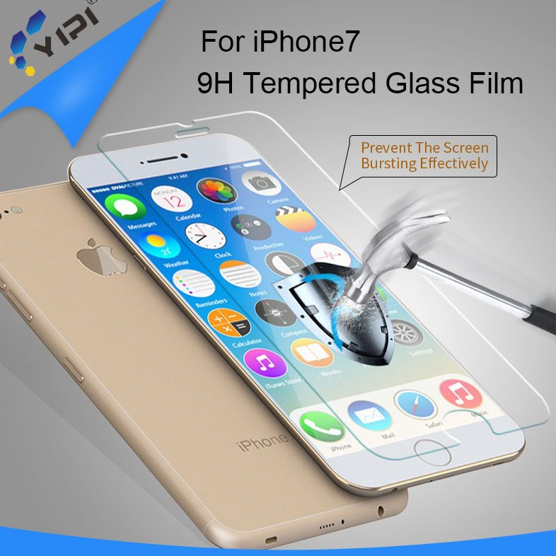 Wholesale 9h tempered glass screen protector film for iphone 7 / for iphone 6