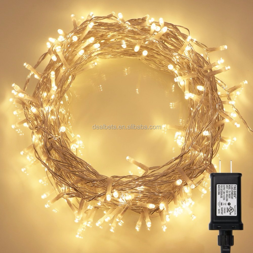 200 LED Indoor Fairy Lights w/ Remote & Timer on 69ft Clear String
