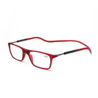 Adjustable hang neck clic magnetic women reading glasses