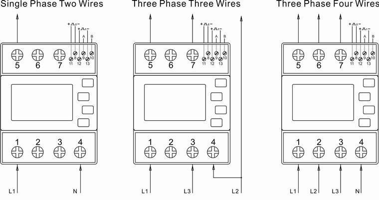 sdm630modbus mid three phase four wire bi