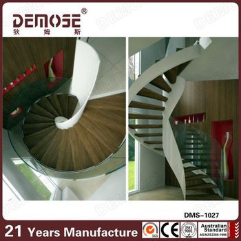 Spiral Glass Stair Metal Stair Stringers For Sale