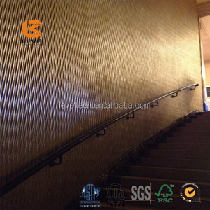 Gold Foil PVC Foil MDF 3D Wall Panels For Japan And USA Marketing