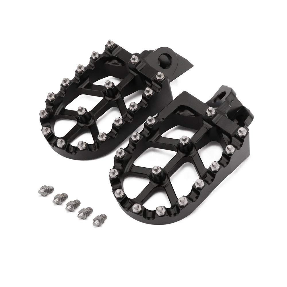 GOOFIT CNC Mental Footpegs Pedals Foot peg for ATV Moped Dirt Bike Pit Bike Pocket Bike