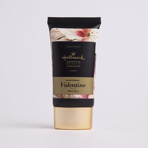 Matte Flat Romantic Valentine Shampoo Tube Manufacturer Rose Gold Cap 30ml/1oz Chinese Black Tube with Label Sticker
