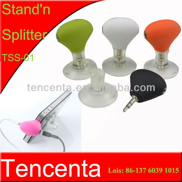 2013 newest colorful 2 line headphone cabl holder splitter and stand holder