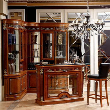 YB29 Victorian Antique Style Wooden Home Wine Cabinet Bar Furniture ...