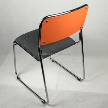 Nuevo dise o famoso tela cromado tubo de acero apilable for Proveedores de muebles de oficina