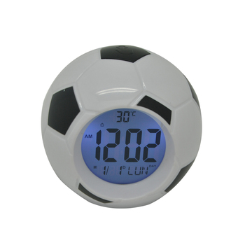 pn1062 cool design soccer alarm clock for boys