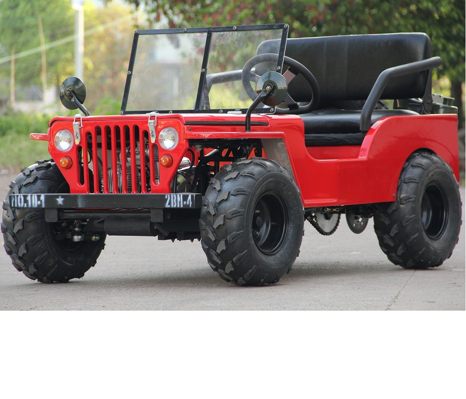 Nouveau design 110cc mini jeep willys / moke / rover