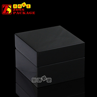 Hot Sale Black Matte Finished Mens Wooden Watch Box