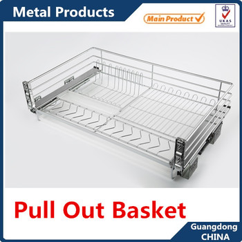 Stainless Steel Kitchen Cabinet Pull Out Basket Modular Baskets Sliding Storage