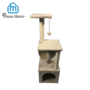Hot Sell Modern Fur Plush Large Cat Tree With Scratching Post and House
