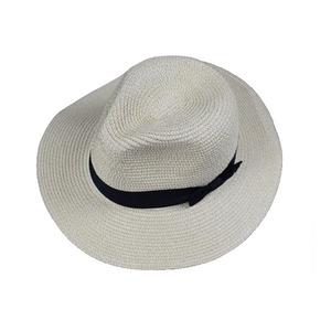 cc069b650947f Flat broad brim mens borsalino sun hat promotional custom logo white panama  straw hat