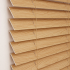50MM Ladder String Venetian Blinds Wood Window Basswood Blinds