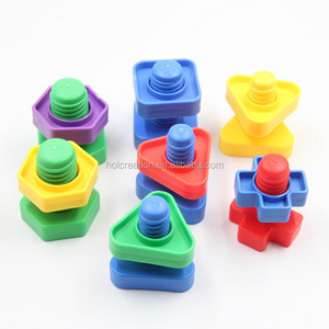 Nuts and Bolts Set 54 pc - Occupational Therapy - Matching Fine Motor Toy for Toddlers Preschoolers