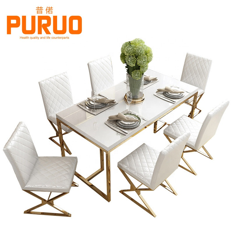 Dining Room Furniture Set Dining Table With Glass View Mirrored Dining Table For Living Room Furniture Puruo Product Details From Guangzhou Puruo Furniture Co Ltd On Alibaba Com