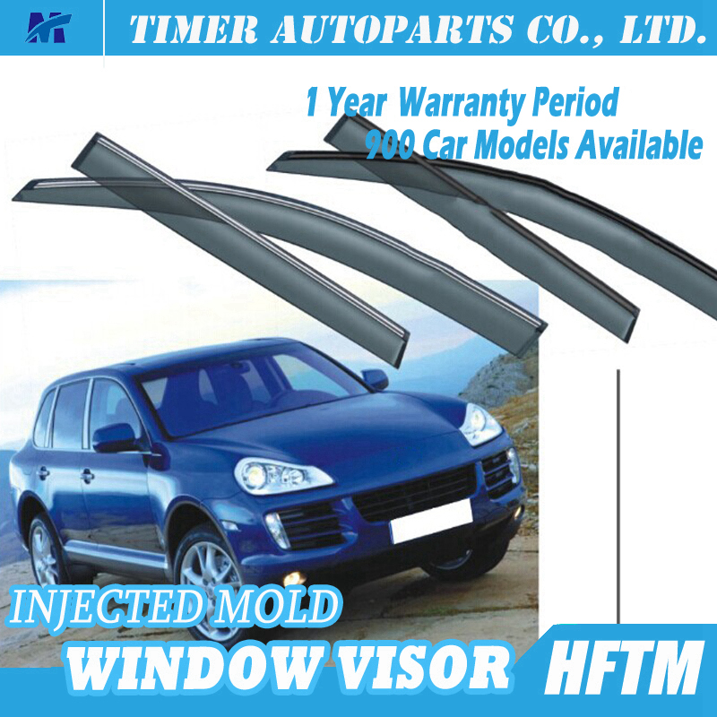 car window rain guards window visor for Porsche Cayenne S 2010