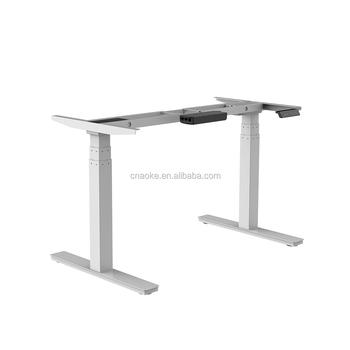 Adjustable Height Message Table Electric Desk Frame Hardware With Folding Desk  Legs