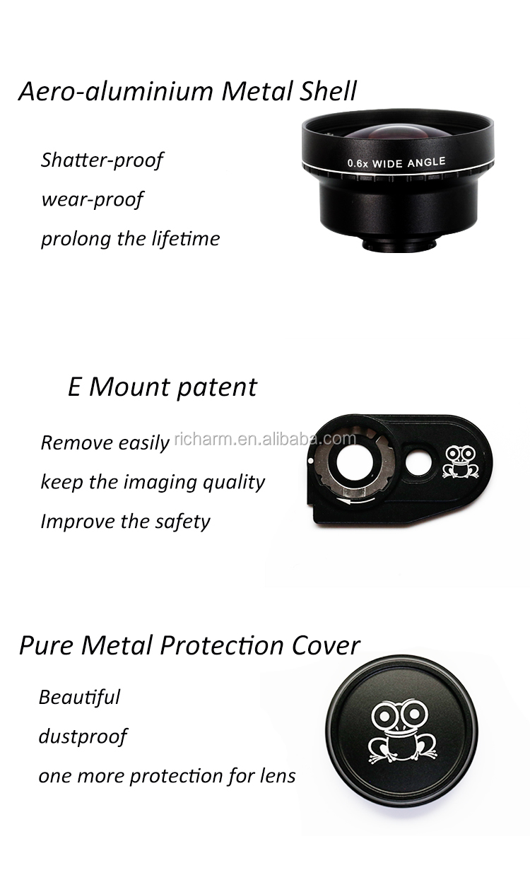 High quality 0.6x Wide Angle Mobile Phone camera Lens external lens for mobile phone