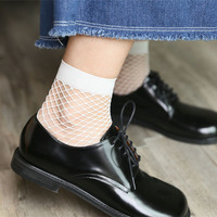 Bonypony High Quality Colorful Chic Streetwear Short Fishnet Socks Sexy Hollow out Nets meias Ankle Ladies Sweet Mesh Socks
