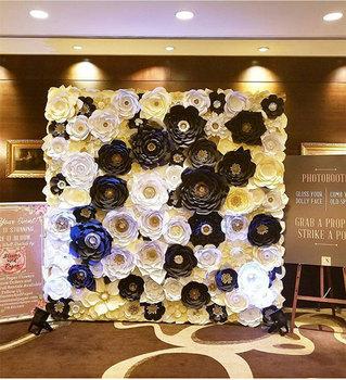 Scène De Mariage Fleur Décoration Fleur De Soie Décoration Murale