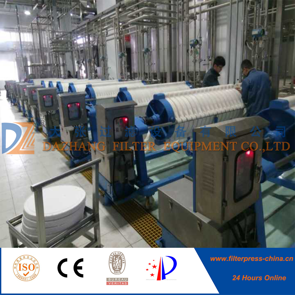 Dazhang Aluminum Alloy cotton cake filter press for pharmaceutical industry