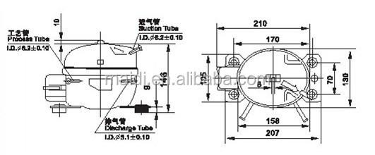 Sikelan Domestic R134a Refrigerator Compressor