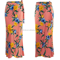 Fancy Skirt Top Designs Womens Plus Size Printed Bohemian Style Beach Wear Skirt Long Maxi With Wrap Elastic Band