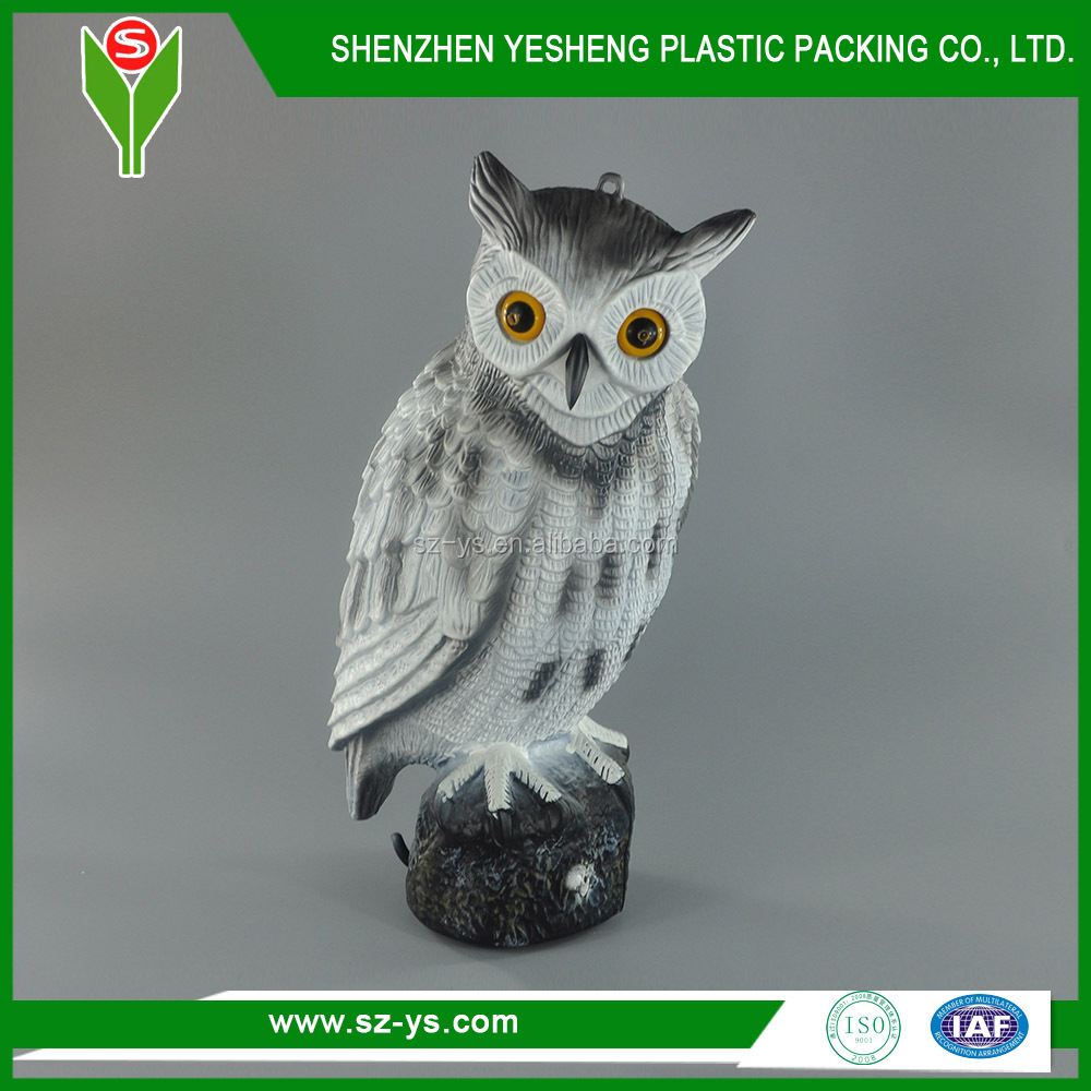 Owl lawn ornaments - Owl Blowing Molding Plastic Owl Lawn Ornaments